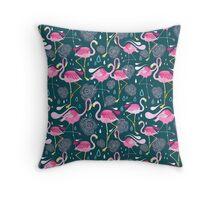 pattern with flamingos  Throw Pillow