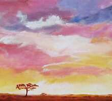 African Sunset by Linda Ridpath