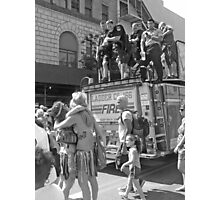 FDNY & Mermaids BW Photographic Print