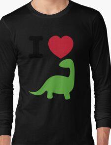 I heart dinosaur (brachiosaurus) Long Sleeve T-Shirt