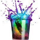 Rainbow In A Glass Two by badkarma