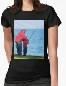 Fishing Lesson Womens Fitted T-Shirt