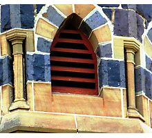 Belfry Window - United Church, Werribee Photographic Print