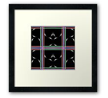 Black abstract art Framed Print