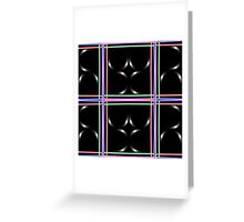 Black abstract art Greeting Card