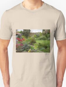 A Cottage Garden in Somerset Unisex T-Shirt