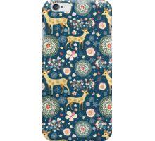 pattern festive reindeer iPhone Case/Skin