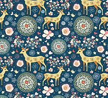 pattern festive reindeer by Tanor