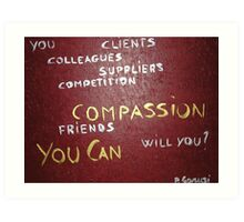 Corporate Compassion Art Print