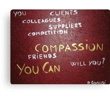 Corporate Compassion Canvas Print