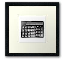 Black calculator Framed Print