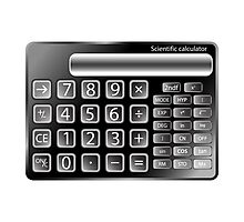 Black calculator Photographic Print