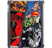 Comic Book Cover Print (Painted With One Finger On An iPhone App) iPad Case/Skin
