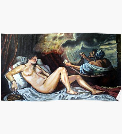 Venusather toilet as by Titian Poster