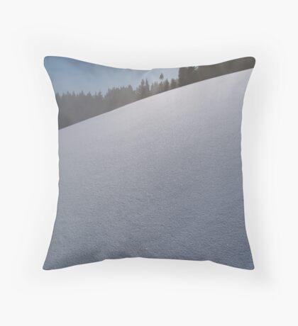 Crystal snow field Throw Pillow