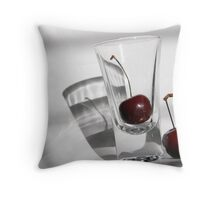 Refracted Cherry Throw Pillow