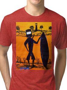 """""""Ned Kelly Sunset Surfer""""  Australia Tri-blend T-Shirt"""