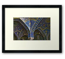 Inside Imam Mosque - Isfahan - Iran Framed Print