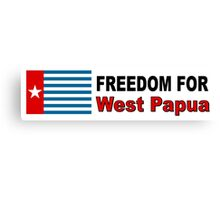 Freedom For West Papua Canvas Print