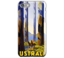 Australia Vintage Travel Poster Restored iPhone Case/Skin