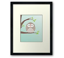 Sweet owl in a tree Framed Print