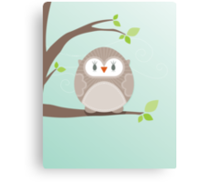 Sweet owl in a tree Canvas Print