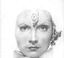 Greta Garbo WIP by Karen Townsend