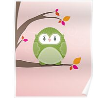 Sweet owl in a tree 3 Poster