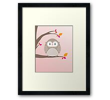 Sweet owl in a tree 5 Framed Print