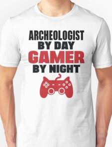 Archeologist by day gamer by night T-Shirt