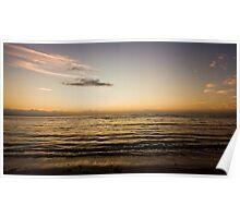 Golden Sea Light 4 mile beach Poster