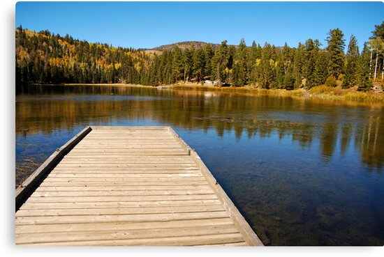 Posey Lake in the fall. by Brian Hendricks