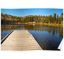 Posey Lake in the fall. Poster