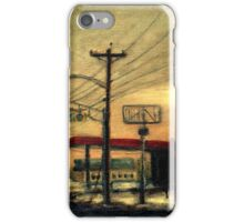 "Setting Sun in Edgewater Park - ""Wired"" Series iPhone Case/Skin"