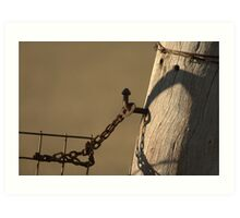 Old Gatepost Art Print