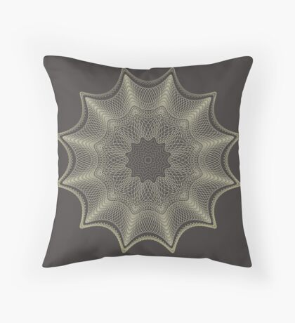 Geometric spiral pattern or is it a lace doily? Throw Pillow