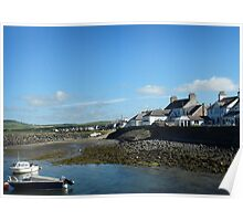 Port William harbour and houses Poster