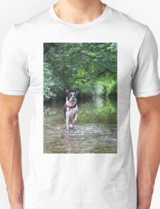 Portrait of Meryl, the Boston Terrier Unisex T-Shirt