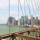 New York City from Brooklyn bridge by Vitaliy Gonikman