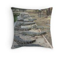 Crocodile farm in Thailand 8 Throw Pillow