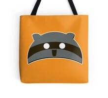 Orange Raccoon Hat Tote Bag