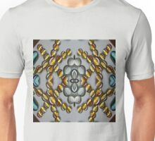 Golden Stripped Glass Droplets Unisex T-Shirt