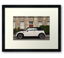 BMW Mini One Sidewalk soft top cabriolet Framed Print