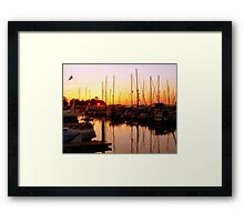 Orange Over Water Framed Print