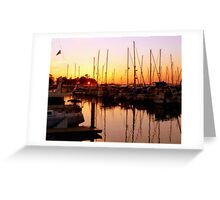 Orange Over Water Greeting Card