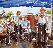 """20-06-10 """"A Jazz Band : Impromptu"""" : (Watercolor : 28x38cm.) by BuaS"""