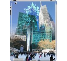 Bryant Pk. holiday festivities, 42nd St, & 6th Ave., NYC, NY iPad Case/Skin