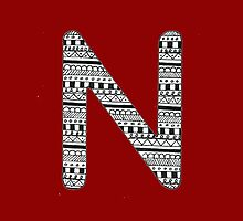 'N' Patterned Monogram by tadvani