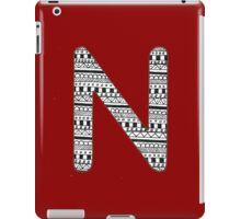 'N' Patterned Monogram iPad Case/Skin