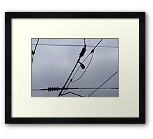 Overhead Electric Railway Cables Framed Print